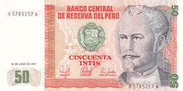 Peru - 50 Intis 26 June 1987 - UNC - Pérou