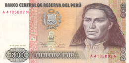 Peru - 500 Intis 26 June 1987 - UNC - Perú