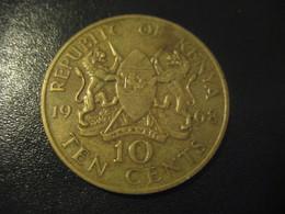 10 Ten Cents 1968 KENYA Coin - Kenya