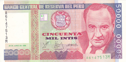 Peru - 50000 50.000 Intis 28 June 1988 - UNC - Pérou