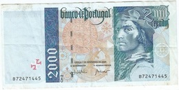 Portugal 2.000 Escudos 7-11-2000 Pick 189d.2 Ref 1924 - Portugal