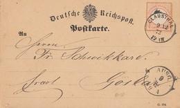 DR Karte EF Minr.18 K1 Clausthal 9.12.72 - Briefe U. Dokumente