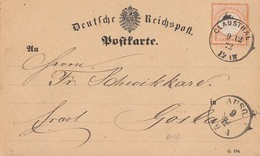DR Karte EF Minr.18 K1 Clausthal 9.12.72 - Deutschland