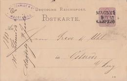DR Ganzsache Bpst. L3 Magdeburg - Leipzig - Deutschland