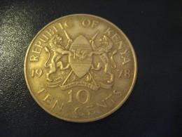10 Ten Cents 1978 KENYA Coin - Kenya
