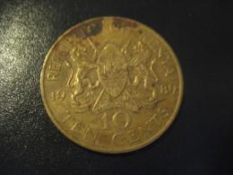 10 Ten Cents 1989 KENYA Coin - Kenya