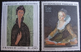 1840 - TABLEAUX : MODIGLIANI / FRAGONARD - N°1702 + 2109 - TIMBRES NEUFS** - Collections