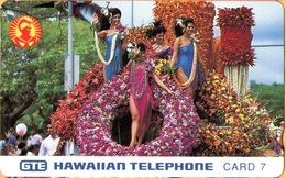 Hawaii - GTH-11, Aloha Festival Week Parade 1991 Floral Float, 7U, 6.500ex, Mint - Hawaii