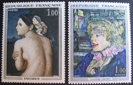 1843 - TABLEAUX : INGRES / TOULOUSE-LAUTREC - N°1426 + 1530 - TIMBRES NEUFS** - France