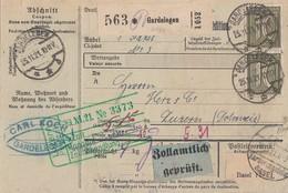 DR Paketkarte Mif Minr.2x 115,5x 156,2x 159 Gardelegen 25.11.21 Gel. In Schweiz - Deutschland