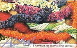 Hawaii - GTH-51, Very Colorful Leis & Light Purple 'Aloha!', 3U, 5.000ex, Mint - Hawaii