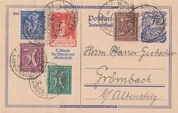DR GS Zfr. Minr.161,162,168,183,234 Württ.-Bahn-Post 8.1.23 - Deutschland