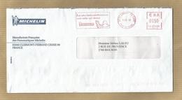 Enveloppe+lettre Clermont-Ferrand FD Gare (63) Michelin Pl. Des Carmes-Déchaux 3scans 10-06-2003 0,50€ Flamme Mécanique - 1961-....