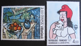 1846 - TABLEAUX : VLAMINCK / EFFEL - N°1901 + 2291 - TIMBRES NEUFS** - Collections