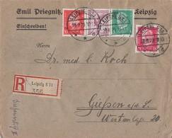 DR R-Brief Mif Minr.A379,411,414,413 Leupzig 26.11.29 - Deutschland