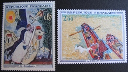 1847 - TABLEAUX : CHAGALL / DERAIN - N°1398 + 1733 - TIMBRES NEUFS** - Collections