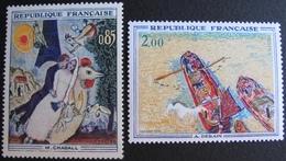 1847 - TABLEAUX : CHAGALL / DERAIN - N°1398 + 1733 - TIMBRES NEUFS** - France