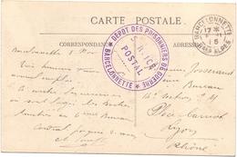 France Carte Obl Dépot Desprisoniniers De Guerre Barcelonnette Basse Alpes - Guerre De 1914-18
