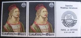 1849 - TABLEAUX : DÜRER - PHILEXFRANCE 82 - N°2090 + 2090a - TIMBRES NEUFS** - France