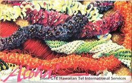 Hawaii - GTH-52, Very Colorful Leis & Red 'Aloha!', 6U, 10.000ex, Mint - Hawaii