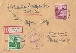 GG R-Brief Mif Minr42,51 Warschau Gel. Nach Nürnberg - Besetzungen 1938-45