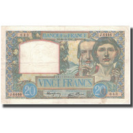 France, 20 Francs, 20 F 1939-1942 ''Science Et Travail'', 1941-10-30, TTB+ - 1871-1952 Anciens Francs Circulés Au XXème