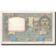 France, 20 Francs, 20 F 1939-1942 ''Science Et Travail'', 1941-10-30, TTB+ - 1871-1952 Antichi Franchi Circolanti Nel XX Secolo