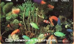 Hawaii - GTH-Pr25, Colorful Saltwater Fish & Coral, 6U, 1.500ex, Mint - Hawaii