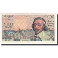 France, 1000 Francs, 1 000 F 1953-1957 ''Richelieu'', 1955-03-03, SUP - 1871-1952 Circulated During XXth