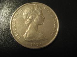 20 NEW ZEALAND 1976 QEII Coin - Nouvelle-Zélande