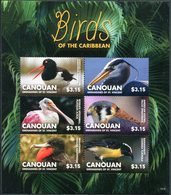 """CANOUAN GRENADINES OF ST VINCENT  2015  MNH - """" OISEAUX / BIRDS OF THE CARIBBEAN """" - 1 MSHEET - Oiseaux"""