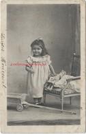 CPA-thème Poupée-puppe-doll -en 1903 Petite Fille -chariot-adressé à Mme Larcher à Germaine Berty Par Lucien Héricourt - Jeux Et Jouets