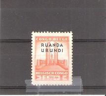 Ruanda-Urundi - 122 - XX/MNH - 1924-44: Neufs