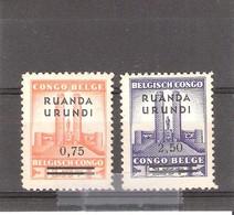 Ruanda-Urundi - 124/125 - XX/MNH - 1924-44: Neufs