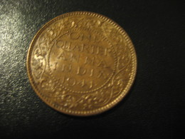 One Quarter Anna 1/4 INDIA 1941 GEORGE VI Coin Inde British Area Colony - Inde