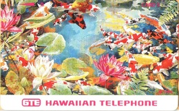 Hawaii - GTH-50, Very Colorful Koi Fish And Flowers, 3U, 10.000ex, Mint - Hawaii