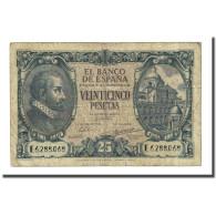 Billet, Espagne, 25 Pesetas, 1940-01-09, KM:116a, TB - [ 3] 1936-1975 : Regime Di Franco