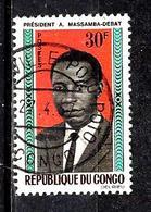 CONGO  174° 30f Bleu, Noir, Orange Et Brun Président Massamba-Debat (10% De La Cote + 0,15) - Congo - Brazzaville