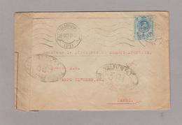 LSC 1917 Pour Paris - Censure Control Postal Militaire - Marques De Censures Nationalistes