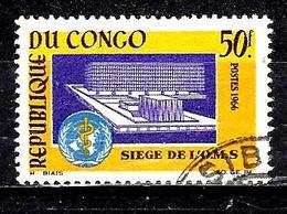 CONGO  187° 50f Jaune, Violet Et Bleu Inauguration Du Siège De L'Organisation Mondiale De La San (10% De La Cote + 0,15) - Congo - Brazzaville