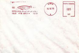 1979 - ZEPPELIN LZ 127 AT SIBIU - Marcophilie - EMA (Empreintes Machines)