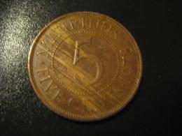 5 Five Cents MAURITIUS 1978 QEII Coin British Area Colony - Mauritius