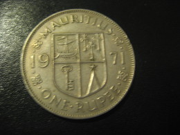 1 One Rupee MAURITIUS 1971 QEII Coin British Area Colony - Maurice