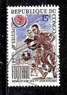 CONGO  195° 15f Brun-lilas, Bleu-violet Et Carmin Sports Football (10% De La Cote + 0,15) - Congo - Brazzaville