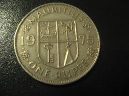 1 One Rupee MAURITIUS 1975 QEII Coin British Area Colony - Mauritius