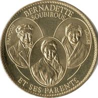 65 LOURDES BERNADETTE SOUBIROUS ET SES PARENTS MÉDAILLE ARTHUS BERTRAND 2015 JETON TOKEN MEDAL COINS - Arthus Bertrand