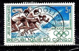 CONGO  Aer74° 5f Vert, Bleu Et Brun Jeux Olympiques De Mexico Course à  Pied (10% De La Cote + 0,15) - Congo - Brazzaville
