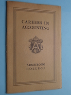 """CAREERS In ACCOUNTING """" ARMSTRONG COLLEGE """" State Of CALIFORNIA 1950 ( Dir. Stuart H. ANDREWS ) 30 Pag. ! - Diplômes & Bulletins Scolaires"""
