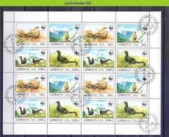 Nev171MSc, G WWF FAUNA VOGELS BIRDS BLACK GROUSE VÖGEL AVES OISEAUX AZERBAYCAN 1994 Gebr/used # - W.W.F.