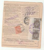 1937 ZARGEB Yugoslavia Stamps MANIBOR Slovenia REGISTERED STEYR Austria Via Graz BULLETIN D'EXPEDITION Receipt Card Form - 1931-1941 Kingdom Of Yugoslavia